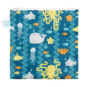 Bumkins Large Reusable Snack Bag - Sea Friends - phunkyBento