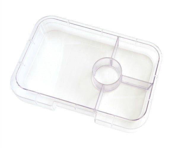 Yumbox Tapas Interchangeable Tray (4 Compartments) - Clear - phunkyBento