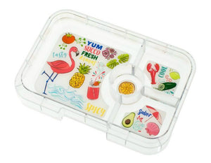 Yumbox Tapas Interchangeable Tray (4 Compartments) - Flamingo - phunkyBento