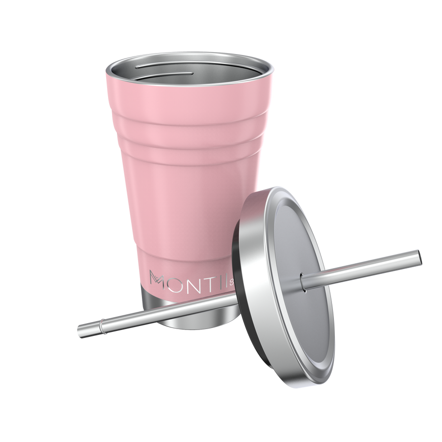 MontiiCo Mini Smoothie Cup (275ml) - Dusty Pink