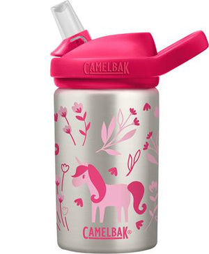 CamelBak Eddy+ Stainless Steel Kids Drink Bottle 400ml - Unicorns & Blooms