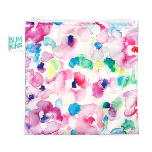 Bumkins Large Reusable Snack Bag - Watercolour - phunkyBento
