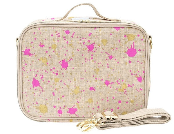 SoYoung Lunch Bag - Fuchsia & Gold Splatter - phunkyBento