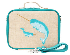 SoYoung Lunch Bag - Teal Narwhal - phunkyBento