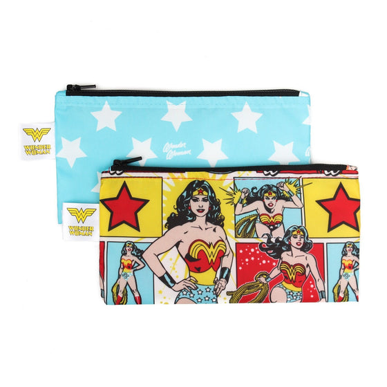 Bumkins Small Snack Bag 2pk | DC Comics - Wonder Woman - phunkyBento