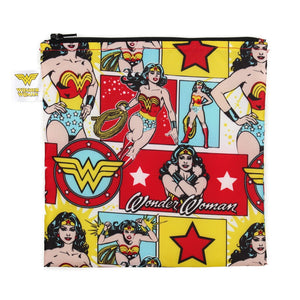 Bumkins Large Reusable Snack Bag | DC Comics - Wonder Woman - phunkyBento