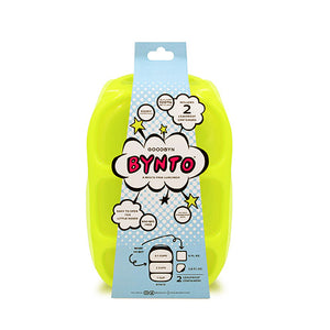 Goodbyn Bynto Lunchbox (NEW - now includes 2 leak proof dippers) - Neon Yellow Green - phunkyBento