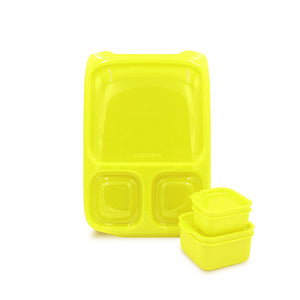 Goodbyn Hero Lunch Box (includes 2 leak proof dippers) - Neon Yellow Green - phunkyBento