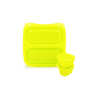 Goodbyn Small Meal (NEW - now includes 2 little dippers) - Neon Yellow Green - phunkyBento