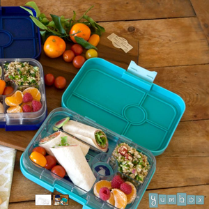 Yumbox Tapas Bento Lunchbox (4 Compartment)  - Antibes Blue - phunkyBento