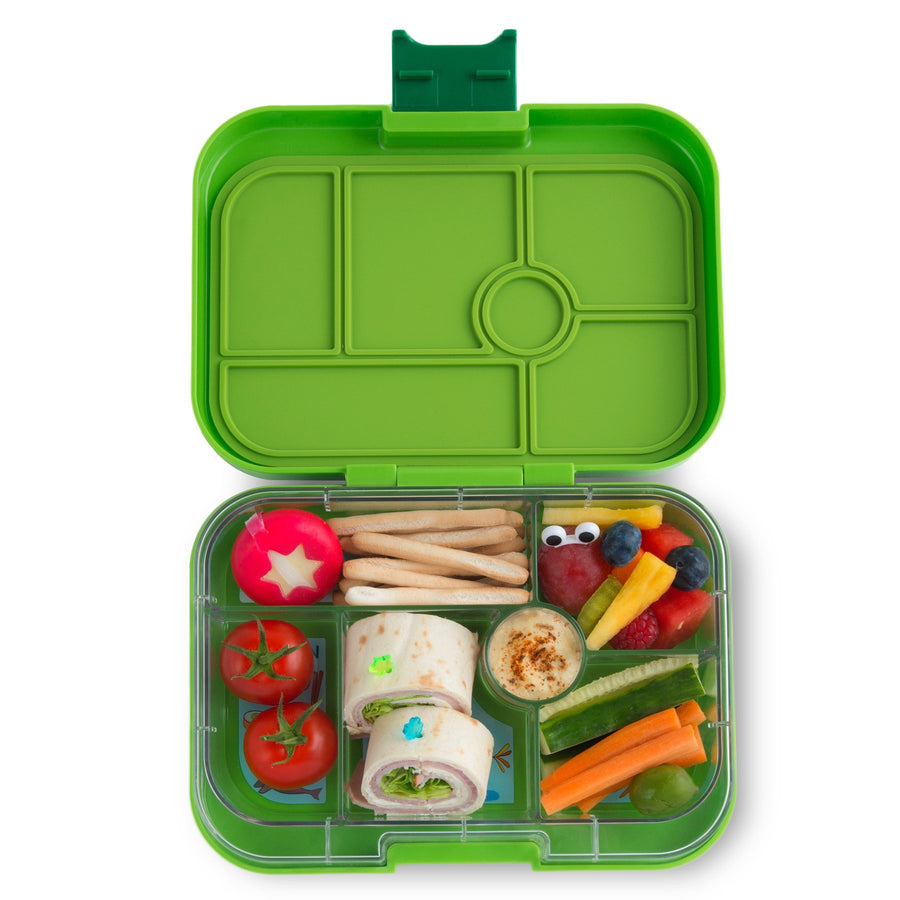 Yumbox Original Bento Lunchbox (6 Compartment) - Go Green