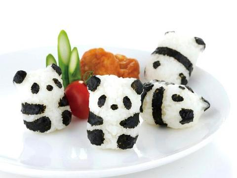 Baby Panda Rice Shaper Set