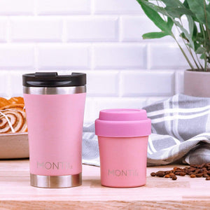 MontiiCo Mini Insulated Coffee Cup (150ml) - Dusty Pink