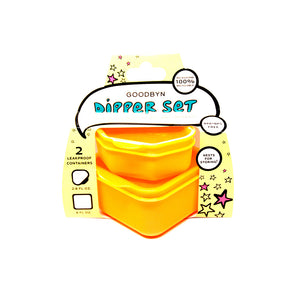 Goodbyn Dippers (Set of 2) - Neon Orange - phunkyBento
