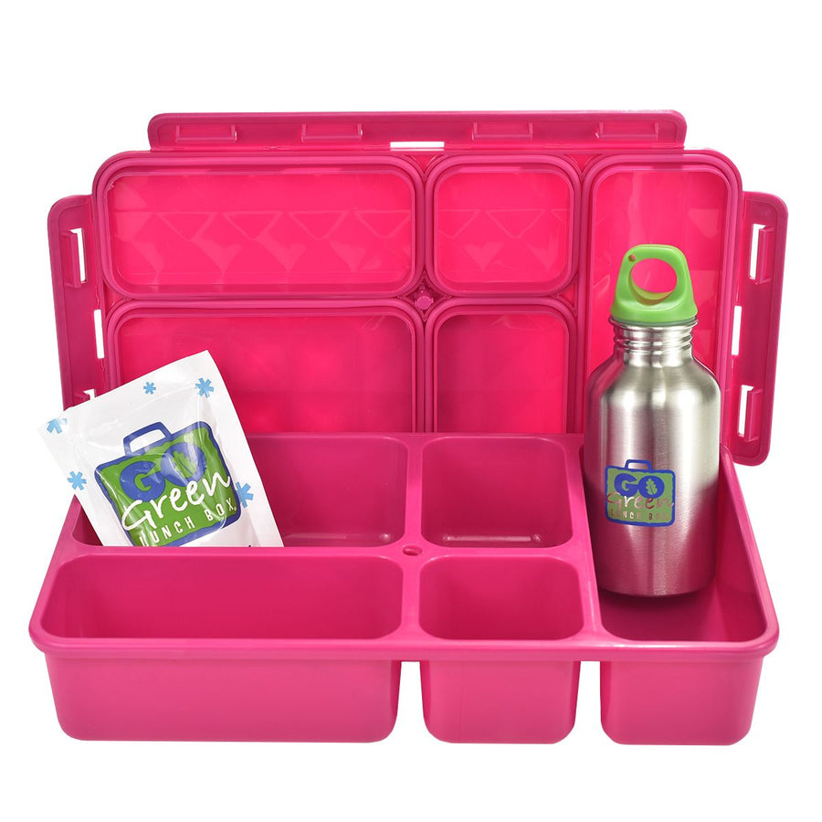 Go Green | Complete Lunch System - Flamingo - phunkyBento