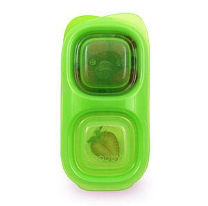 Goodbyn Snacks (NEW - now includes 1 little dipper) - Neon Yellow Green - phunkyBento