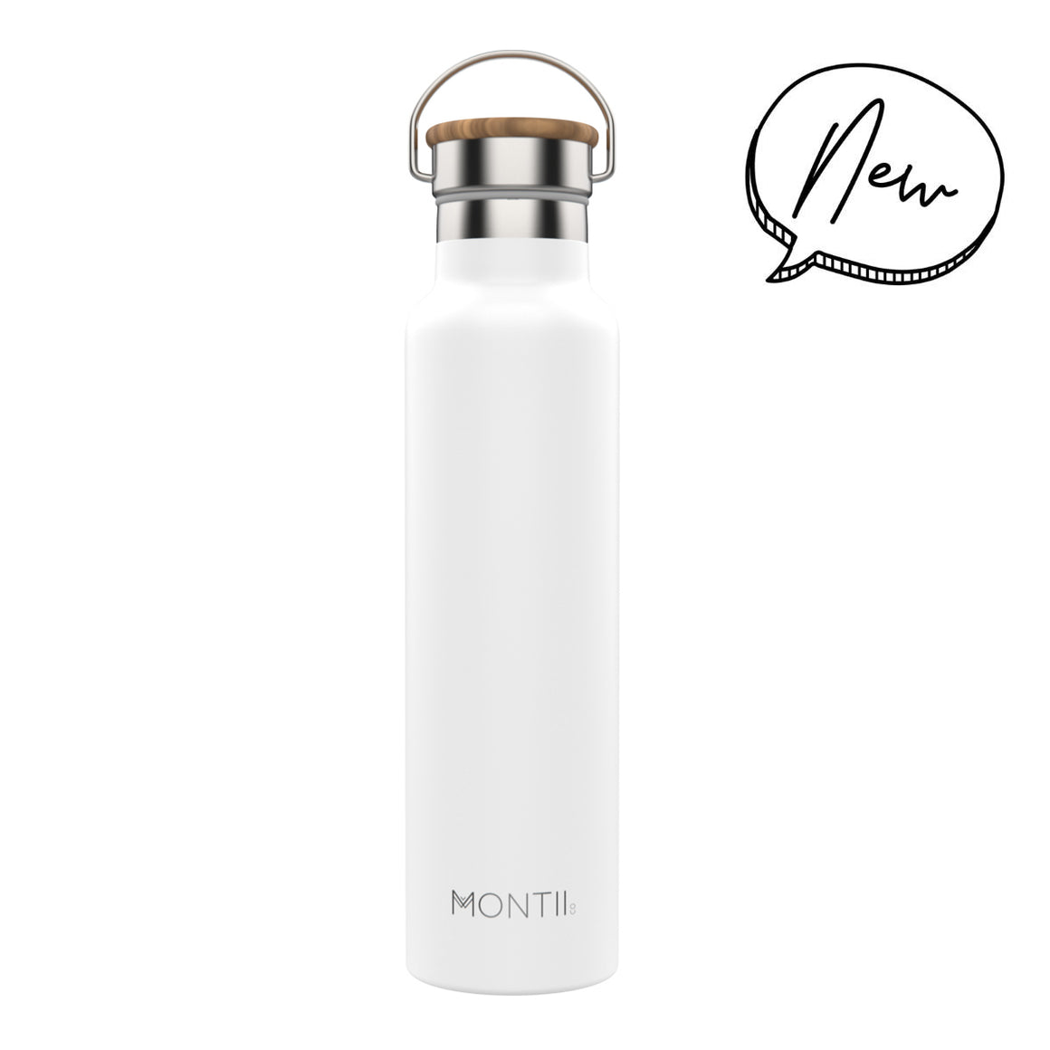 MontiiCo MEGA Insulated Drink Bottle (1000 mls) - White