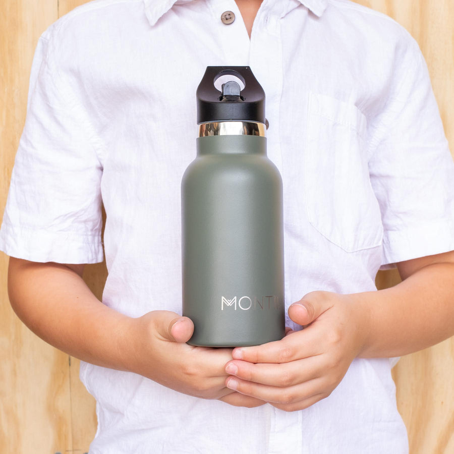MontiiCo Mini Insulated Drink Bottle (350ml) - Moss