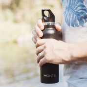 MontiiCo Insulated Drink Bottle (600ml) - Black