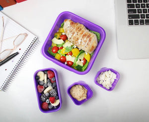 Goodbyn Portions On-the-Go - Neon Orange - phunkyBento