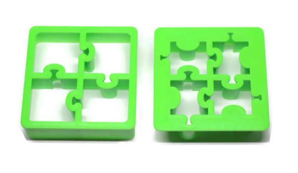 "Lunchpunch ""Puzzles"" Sandwich Cutters - (Set of 2) - phunkyBento"