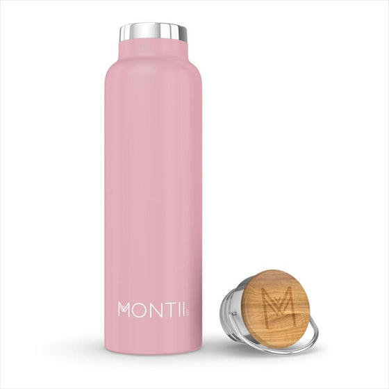 MontiiCo Insulated Drink Bottle (600ml) - Dusty Pink - phunkyBento