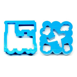 "Lunchpunch ""Transit"" Sandwich Cutters - (Set of 2) - phunkyBento"