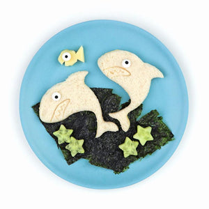 "Lunch Punch ""Shark"" Sandwich Cutters - (Set of 2) - phunkyBento"