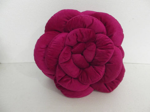 pink rose flower pillow-18x18 inches - TATVAKALA Home