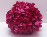 fuchsia pink flower petal ball pillow - TATVAKALA Home