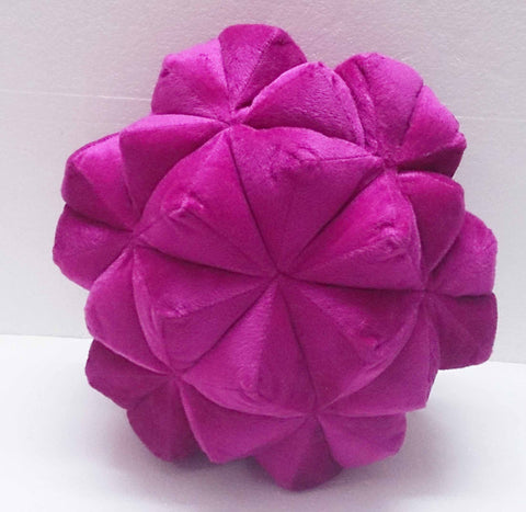 Pink Origami Star shaped velvet decorative pillow - TATVAKALA Home