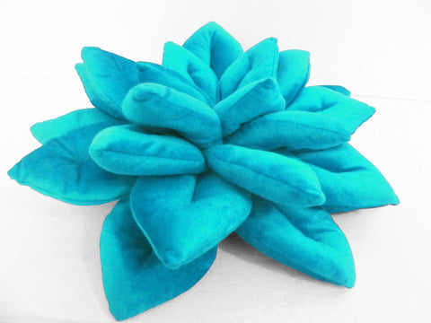 blue lotus flower pillow-16x16 inches - TATVAKALA Home