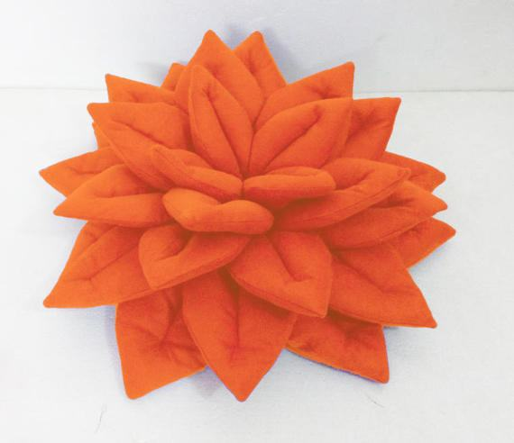 orange throw pillows