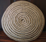 grey/stone/tan round pillow circle stripe filled cushion in size 16inches diameter with filler included-modern designer decorative pillow - TATVAKALA Home