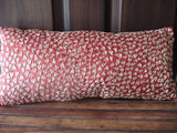 home decor sequins pillow-accent pillow-red pillow-throw pillow-9x20inches available witha filler-modern pillow-wedding exotic gift pillow - TATVAKALA Home