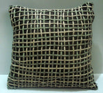 Basket Weave Brown Pillow -16x16 inches - TATVAKALA Home