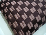 purple and lilac geometric couch cushion with interwoven basket weave in size 16inch x16inch - TATVAKALA Home
