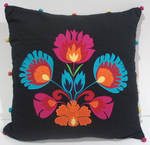 Black pillow -16x16 inches - TATVAKALA Home