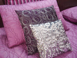 designer bedding,pebble coverlet with assorted shimmer modern decorative pillows,twin size silk coverlet - TATVAKALA Home