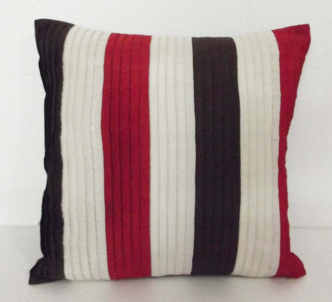 Brown red and off white  cushion