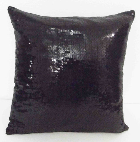 Black glitter sequins cushion- 16inchx16inch - TATVAKALA Home