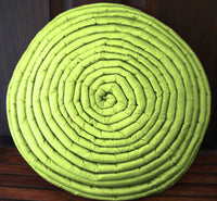 home decor grass green pillow  circle stripe filled cushion in size 16inches diameter with filler included-modern pillow-accent pillow. - TATVAKALA Home