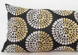 modern retro hand crafted sequins cushion available with a filler in 9x20 inches. - TATVAKALA Home