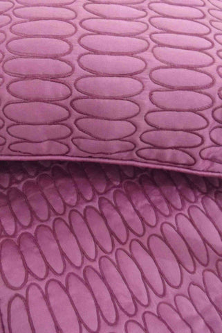 Purple Stone Pattern Quilted Bedding Coverlet Set - TATVAKALA Home