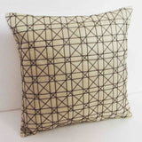 home decor pillow- beige geometric pattern cushion cover-holiday decor couch pillow-throw pillow-accent pillow-modern designer pillow - TATVAKALA Home