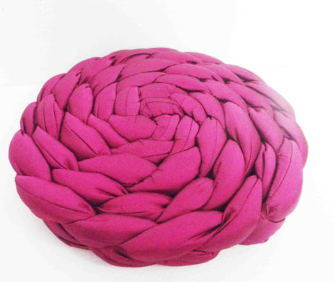 pink braided pillow