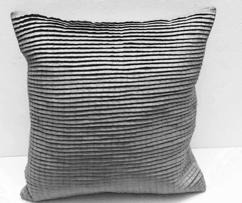 pleated light grey cushion decorative cushion modern pillow home decor bed pillow sofa pillow sewing pattern bedroom decor silk cushion - TATVAKALA Home