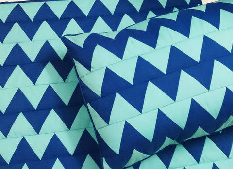 Chevron Cotton King Size Quilted Coverlet Set - TATVAKALA Home