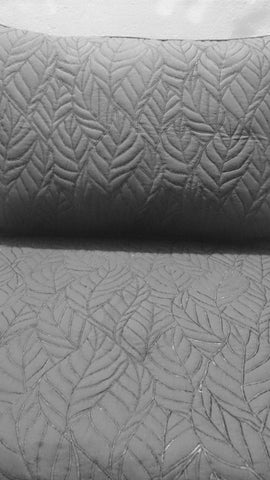grey cotton bedspread quilt pattern King size bedspread coverlet in embroidered contemporary modern quilt - TATVAKALA Home