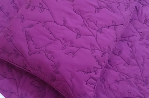 cotton bedspread pink bird and tree quilt pattern King size bedspread bedding coverlet embroidered contemporary quilt modern bedspread - TATVAKALA Home